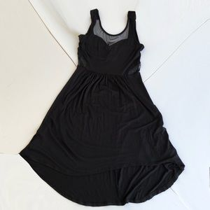 Sweetheart Neckline with Mesh insets Hi-Lo Dress